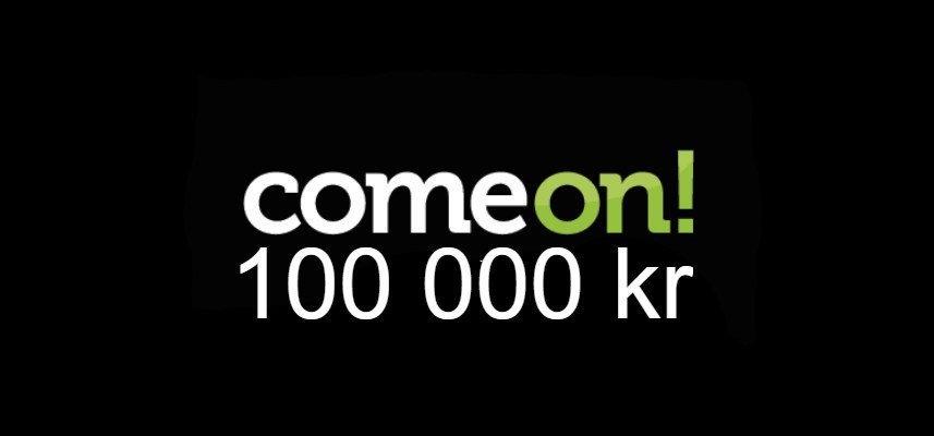 Dela på 100 000 kr på ComeOn