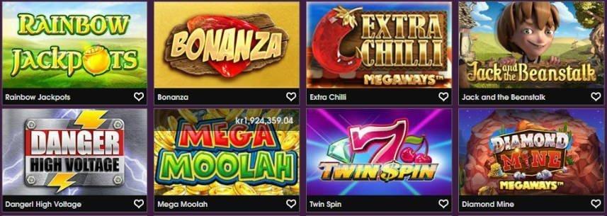 spelutbudet på 21privé casino