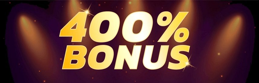 Bonusar på flera hundra procent delas ut på casino på nätet