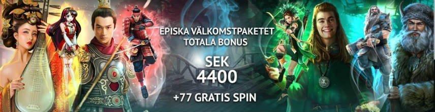 casinobonus välkomsterbjudande