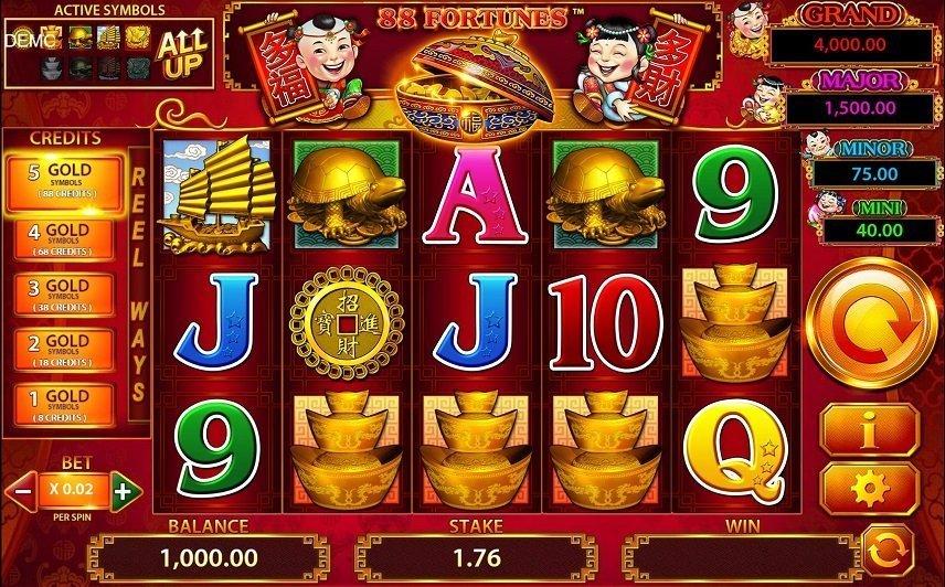 88 fortunes använder sig av ett tydligt kinesiskt tema