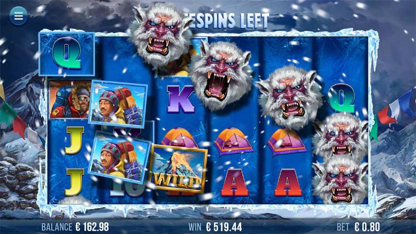 Basspelet i online slot 9K Yeti från svenska spelutvecklaren Yggdrasil