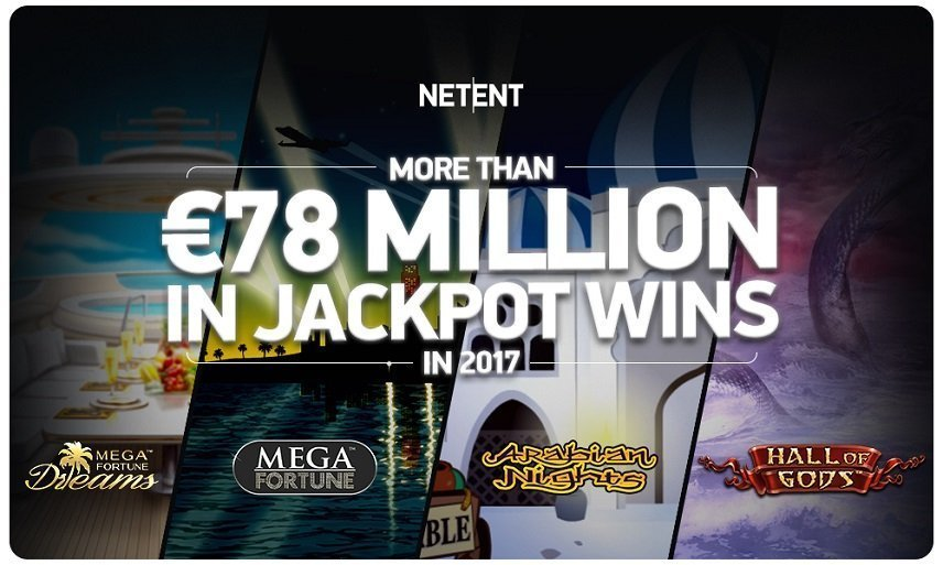 NetEnts alla jackpottar under 2017