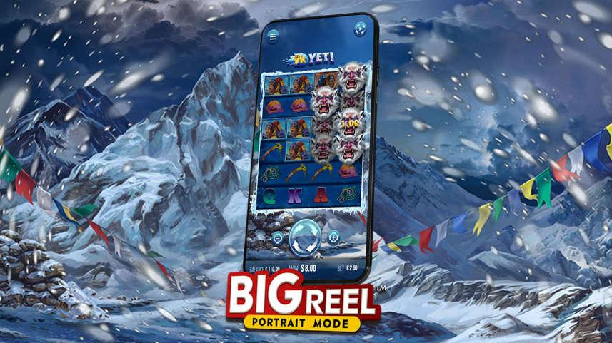 Det nya spelläget Big Reel som anväds på mobiler i casinospelet 9K Yeti