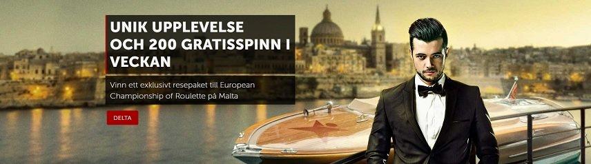 Betsafe tar dig till Malta och roulette