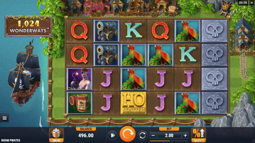 online slot Boom Pirates från Foxium som ägs av Microgaming