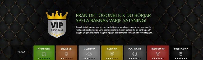 VIP programmet hos Cashiopeia belönar lojala spelare