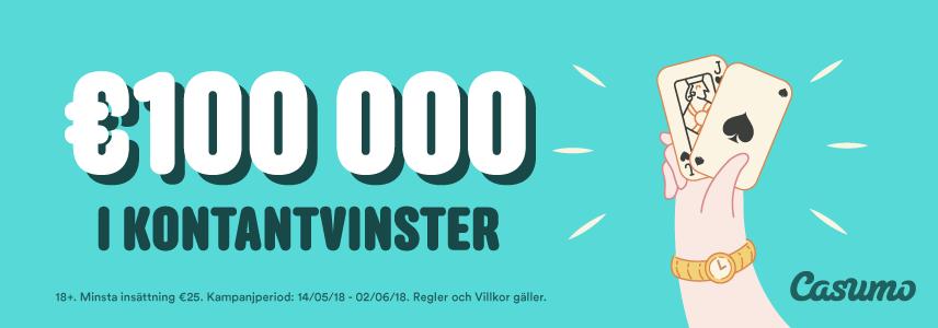 100 000 euro att hämta i Casumos kampanj
