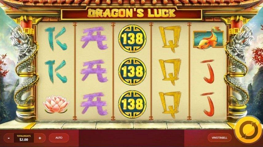 Dragon's Luck använder sitt kinesiska tema fullt ut