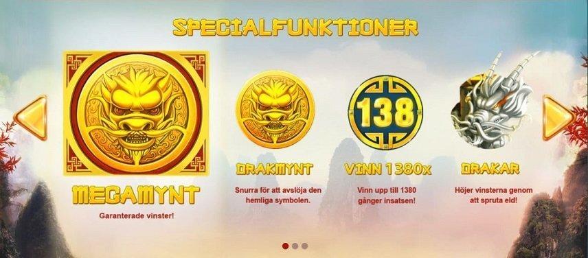 Dragon's Luck innehåller många olika special symboler