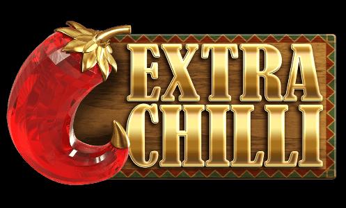 Här ser vi logotypen till casinospelet Extra Chilli.