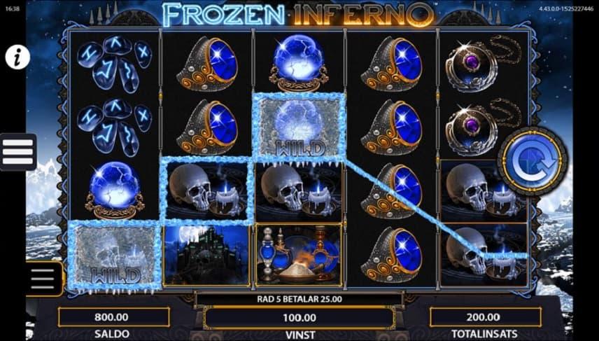 Frozen Inferno är ett vanligt spel med flera givande funktioner