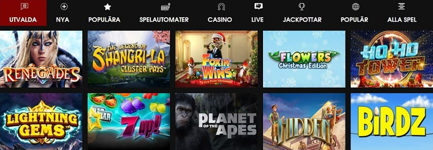 Spel hos Casino GB