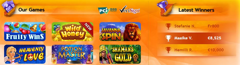 Gratorama casino slot games