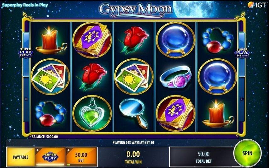 Gypsy Moon är ett klassiskt spel med både vinnande vägar och vinstrader
