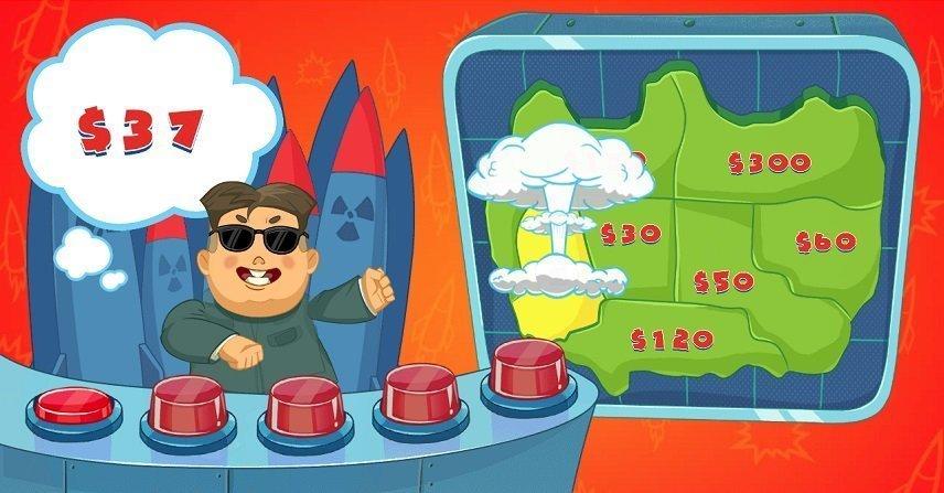 Kim har en bonus där han för skicka iväg bomber