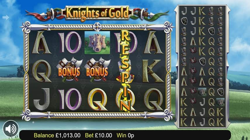 Respins i Knights of Gold
