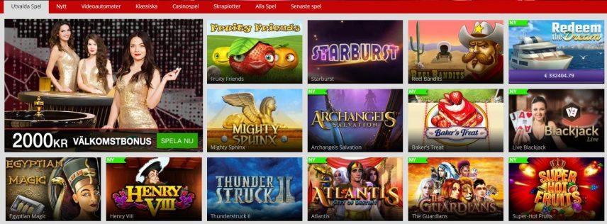 MagicRed har över 500 spel