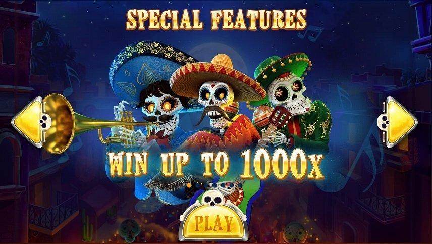 De tre musikanterna i Esqueleto Mariachi ger personlighet till spelet