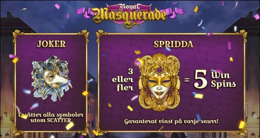 Bonusar i Royal Masquerade