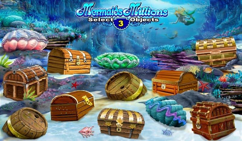 Bonusen i Mermaids Millions handlar om skattkistor