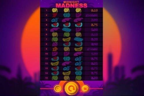 Spelautomaten Midnight Madness