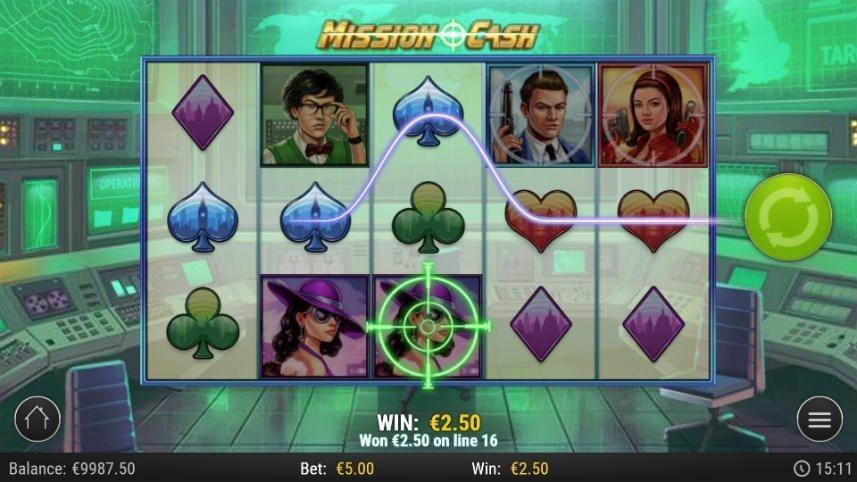 Casinospelet Mission Cash från den svenska spelutvecklaren Play'n GO