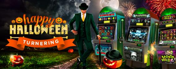 Mr Green firar halloween