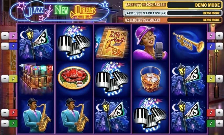 Jazz of New Orleans innehåller flera olika funktioner