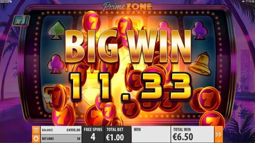 Vinst i casino spelet Wild Zone