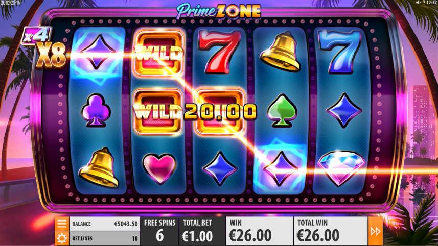 Wilds i casinospelet Prime Zone