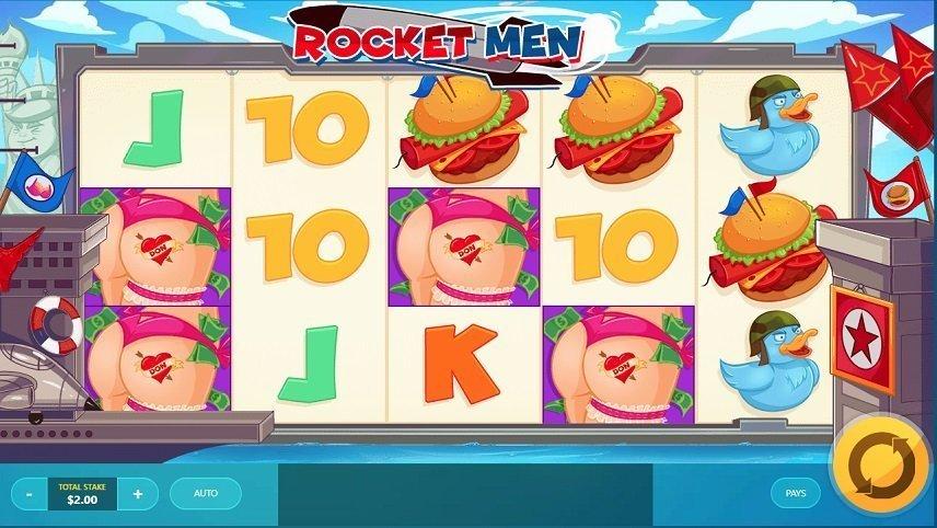 Rocket Men innehåller flera passande symboler