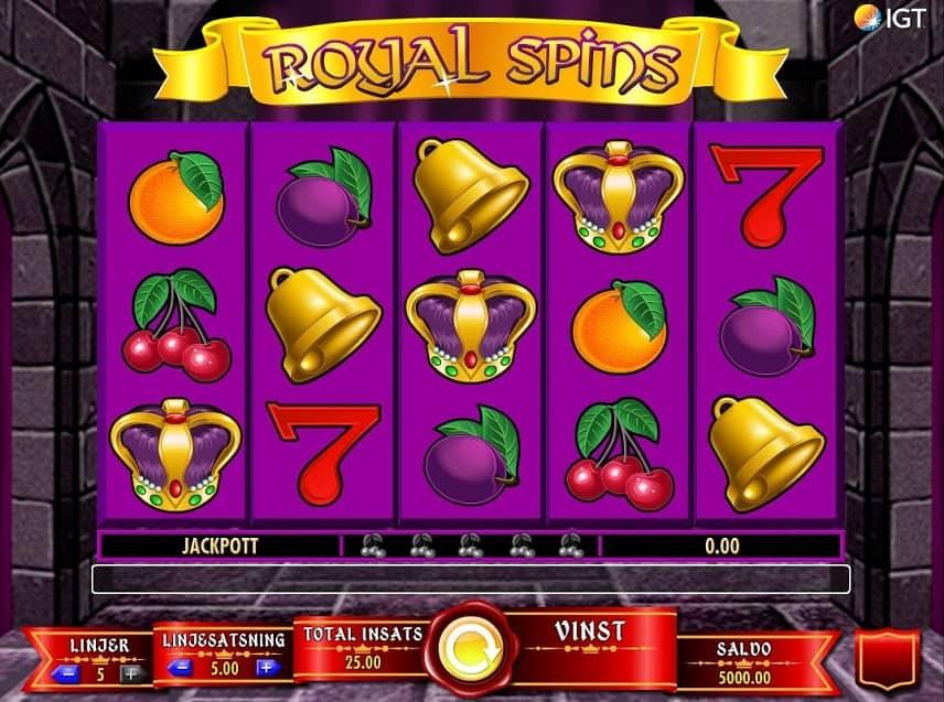 Royal Spins är ett klassiskt spel