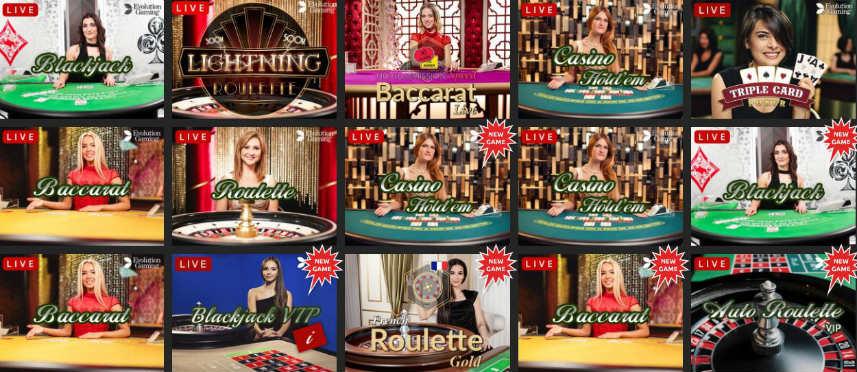 snabbis casino har ett stort utbud av live casino-spel