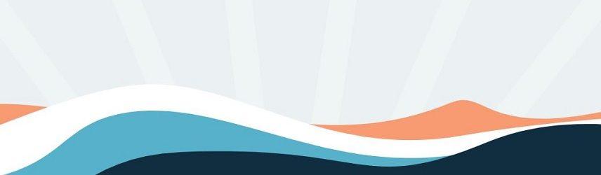 Grafik från Speedy Casino. Denna grafik som syns på flera ställen på Speedy casinos sida består av olika vågformer i färgerna orange, vit, blå och svart.