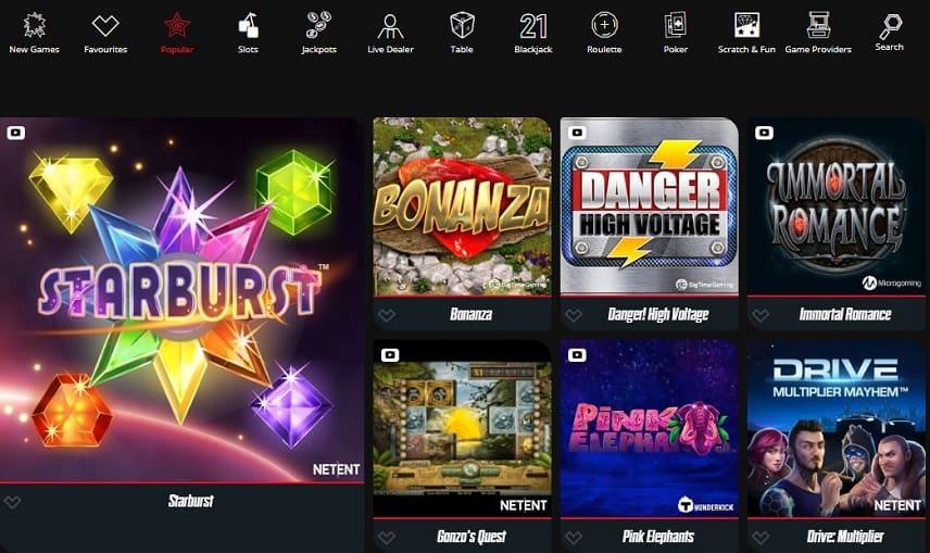 Spin Rider har spel från ett flertal utvecklare