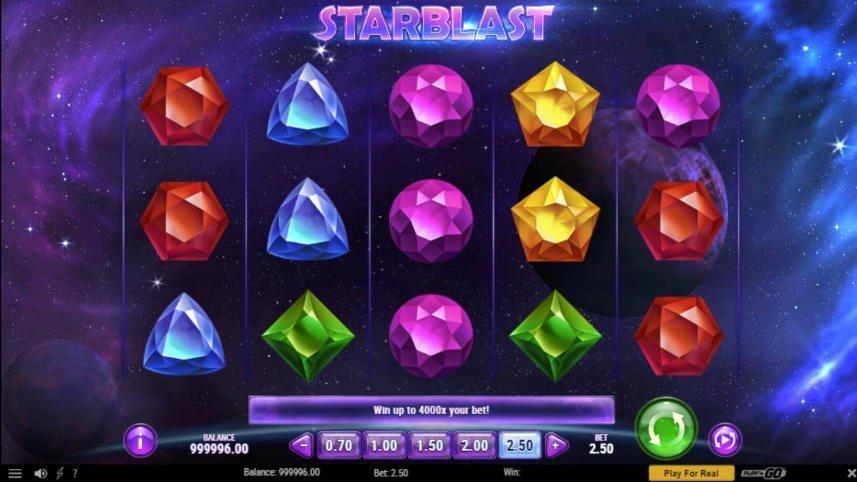 Starblast casino slot hjul