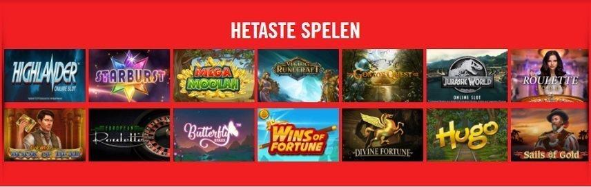 Vegas Hero erbjuder spel från flera utvecklare