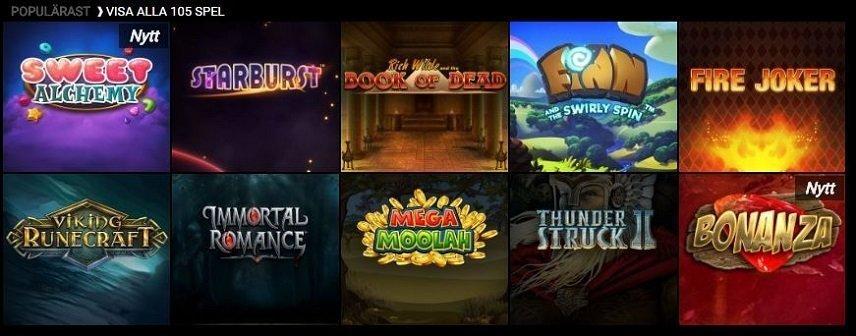 Voodoo Dreams har mängder med olika spel