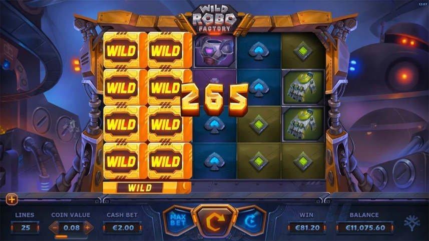 online slot som kallas wild robo factory