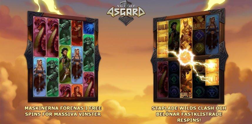 Olika funktioner i Age of Asgard