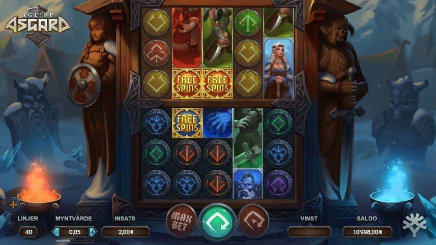 Age of Asgard är en online slot från Yggdrasil