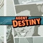 logotyp och bakgrundsgrafik från casinospelet Agent Destiny
