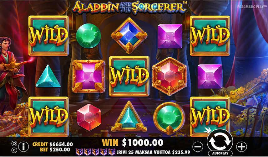 Casinospelet Aladdin and the Sorcerer från spelutvecklaren Pragmatic Play