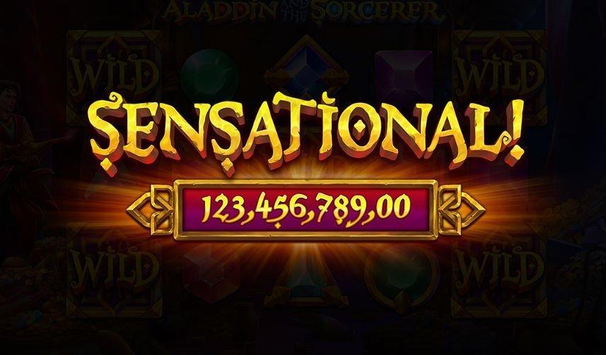 Stor vinst i online slot Aladdin and the Sorcerer