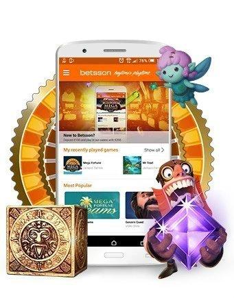 casinospel, online slots och live casino på Betsson casino
