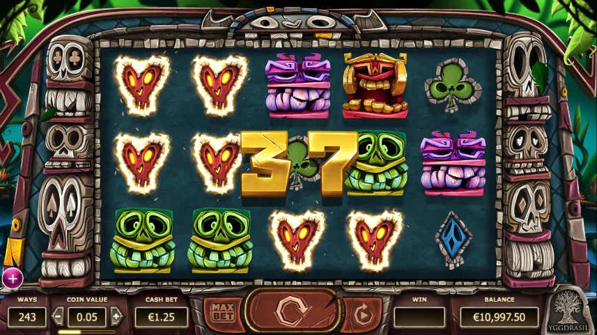 Vinst i Yggdrasils casinospel Big Blox