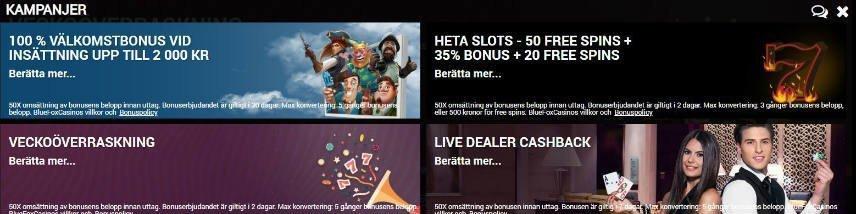 casinokampanjer bonuserbjudanden