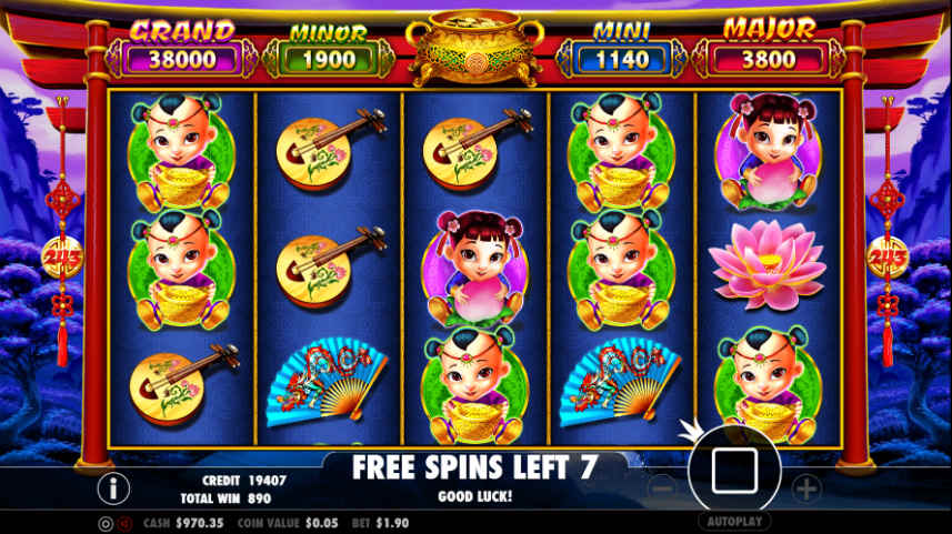 Freespins i Caishens Gold