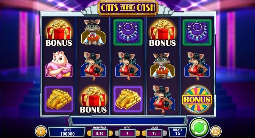 Spelfältet i Cats and Cash